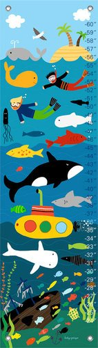 Oopsy Daisy in The Ocean by Lesley Grainger Growth Charts, 12 by 42-Inch