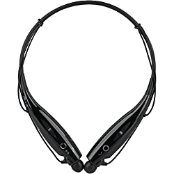 HoA HBS-730 Bluetooth Stereo Headset HBS 730 Wireless Bluetooth Mobile Phone Headphone Earpod Sport Earphone with call functions (Black) for Lenovo Phab Plus