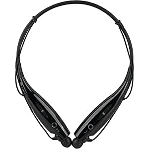 HBS-730 Bluetooth Stereo Headset HBS 730 Wireless Bluetooth Mobile Phone Headphone Earpod Sport Earphone with call functions (Black) for Xolo A500S Lite or any music player, phone etc that supports Bluetooth Headsets