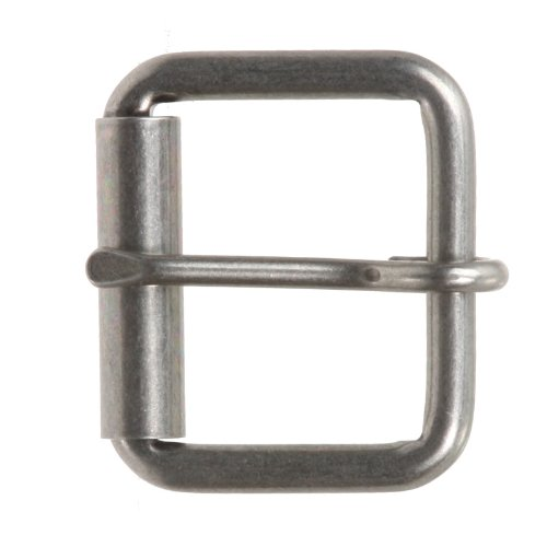 "1 1/2"" (38 mm) Single Prong Roller Belt Buckle Color: Antique Silver"