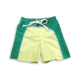 Dogwood - Toddler Boys Bathing Suit, Green, Yellow