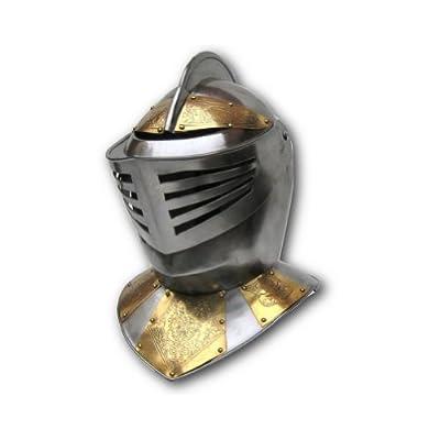 Armor Venue European Knight Helmet - Embossed - Metallic - One Size