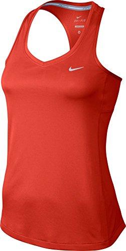 Nike Miler Canotta - Rosso (Lt Crimson) - S
