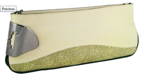 Corozo Leather Convertible Clutch by Halston Heritage
