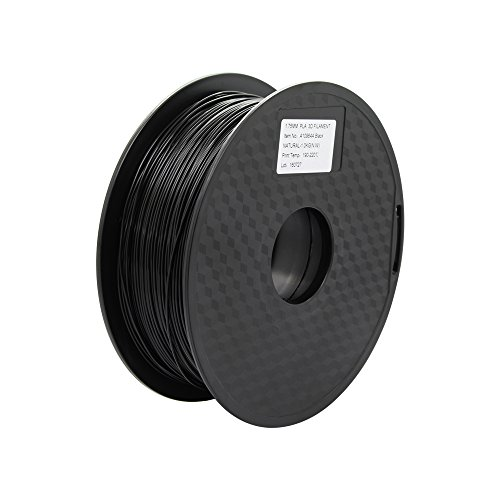 Anycubic Stampante 3D PLA Filament 1.75mm - 1kg bobina (2,2 lbs) - Precisione Dimensionale +/- 0,02mm (Nero)