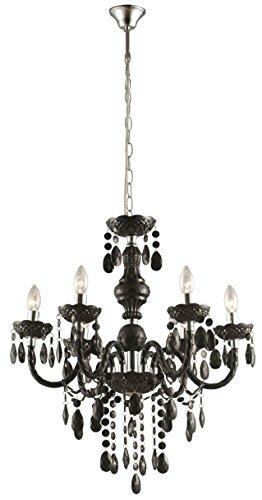 Hängeleuchte Kronleuchter Esszimmer Deckenbeleuchtung Luster schwarz Globo CUIMBRA 63110-6