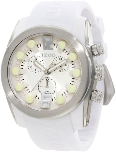 IZOD Men's IZS2/9 WHITE Sport Quartz Chronograph Watch