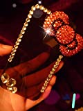 ◆3Dデコ盛り♪♪キラキラ♪ラインストーンケース/iphone5/アイフォン5/専用ケースカバー/Ribbon②