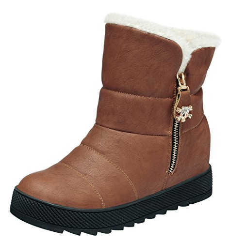 Guciheaven Women Winter New Style Keep Warm Cute In Elevator Boots(7.5 B(M)Us, Coffee)
