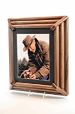 Apache Walnut : Walnut Cremation Urn with Photo