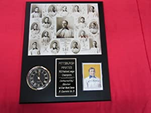 1903 Pittsburgh Pirates Collectors Clock Plaque w 8x10 TEAM Photo and Card NEW... by J & C Baseball Clubhouse