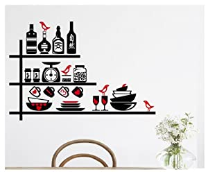 Design Seasoning Pot Bottles Wall Decals Cups Bowls Kitchenware Wall Stickers Murals for Kitchen by New Design