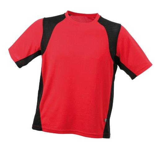 James & Nicholson Men's Shirt Running T - Red, M