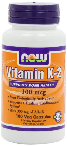 NOW Foods Vitamin  K-2,100mcg,  100 Vcaps