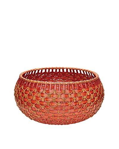 Large Fish Scale Basket, Red/Orange
