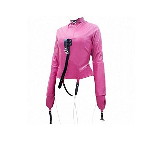 NEW! Rosy Asylum Patient Straight Jacket Halloween Costume Unisex SM L/XL Armbinder F (SMALL/MEDIUM, (Madeline Costume For Adults)