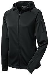 Sport-Tek L248 Ladies Tech Fleece Full-Zip Hooded Jacket - Black - L