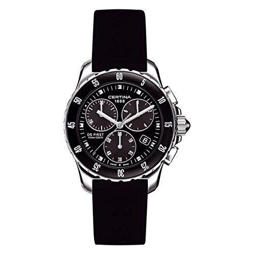Certina Ladies 'Watch XS Chronograph Quartz Rubber C014.217.17.051.00