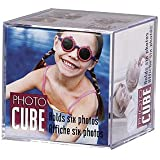 Lucite desktop cube photo frame for 6 photos - 3.5x3.5