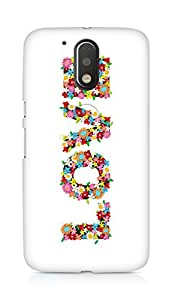Amez designer printed 3d premium high quality back case cover for Motorola Moto G4 (Flowers of love)