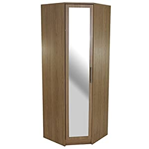 humber bedroom furniture 1 door mirrored corner wardrobe oak