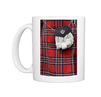 Photo Mug Of Scottish Kilt And Purse On Display For Sale, Edinburgh, Scotland, United From Robert Harding