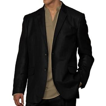 Black elegant linen blazer by cubavera