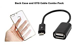 Iphone 4 back case and OTG Cable Combo pack[pack of 2] Electroplated Edge TPU Soft Silicon Back Case Cover and OTG Cable for Apple Iphone 4