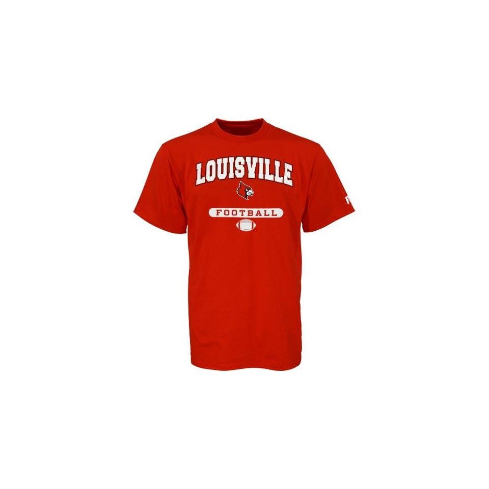 NCAA Russell Louisville Cardinals Red Football T shirt
