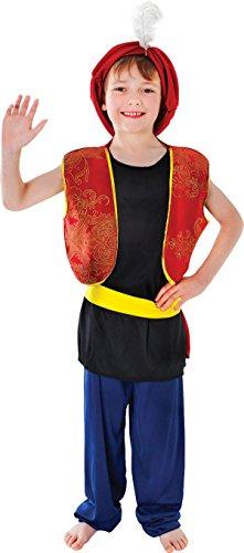 Arabic Genie Aladdin Boy Costume bambini settimana del libro completo Outfit UK Multi S