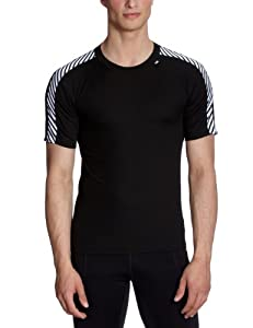 Helly Hansen Mens Lifa Dry Stripe T Black X-Small