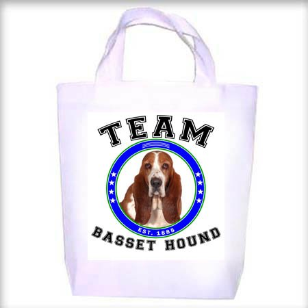 Basset Hound BI TEAM Shopping - Dog Toy - Tote Bag