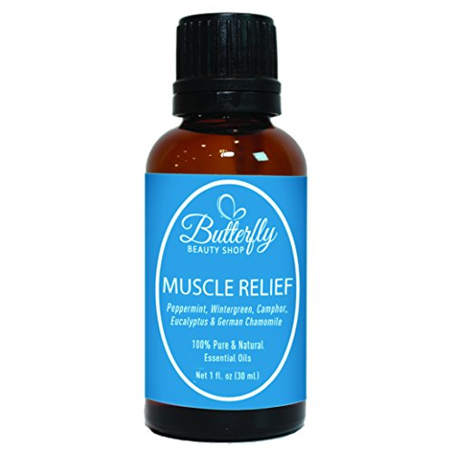 Muscle Relief Essential Oil Blend (30mL). Soothe Your Stiff, Swollen, Tight & Sore Muscles/Joints Naturally With This Therapeutic Blend.