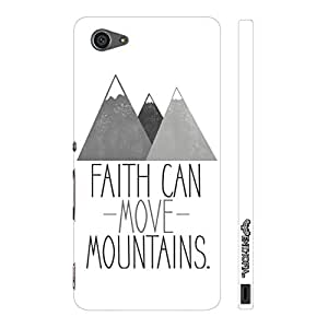 Enthopia Designer Hardshell Case Faith can move mountains Back Cover for Sony Xperia Z5 Mini
