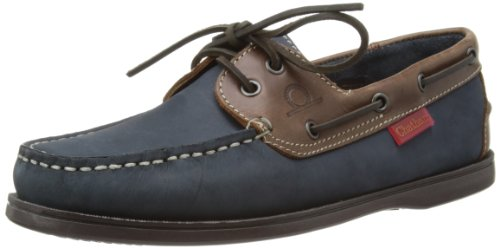Chatham Marine Commodore, Scarpe da barca uomo, Blu (Navy/Brown), 43
