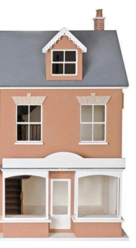 1:12 échelle Gallois Terrasse Maison De Poupées Shop Paquet Plat Non peinte MDF Bois Kit