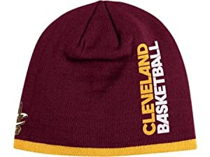 CLEVELAND CAVALIERS NBA CUFFLESS TEAM KNIT BEANIE HAT CAP BY ADDIAS-HARDWOOD CLASSICS... by CLEVELAND CAVALIERS