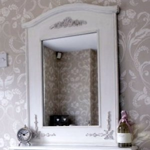 Pays Blanc Range - Antique White Mirror