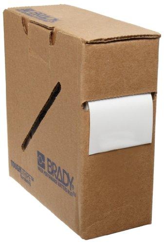 "Brady ToughStripe 104311 100' Length, 2"" Width, B-514 Polyester, White Color Floor Marking Tape"