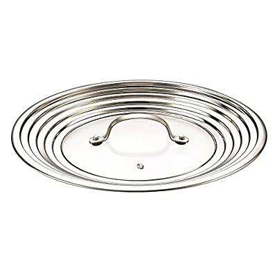 "Cook N Home 02425 Universal Lid, 10 to 12"", Metallic"