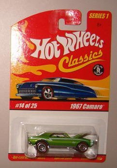 Hot Wheels Classic Series 1: 1967 Chevy Camaro #14 of 25  1:64 Scale Collectible Die Cast Car