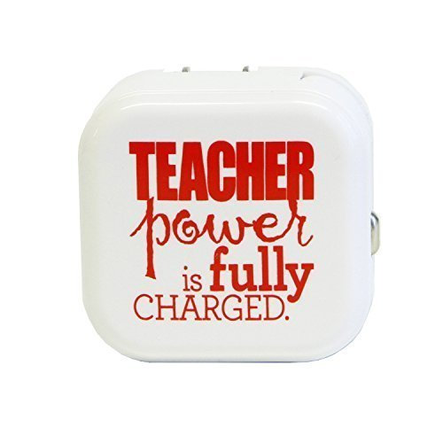Teacher Peach Dual Auto and AC Power Adapter with 2 USB Ports
