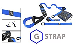BLUE G-STRAPS Suspension Body Fitness Trainer (5 COLORS) HIGH QUALITY Guaranteed, Resistance Home Gym Fitness Training, WARRANTY