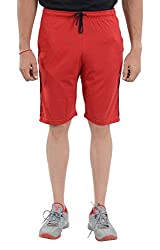 LLUMINATI Men's Cotton Shorts (Bermuda Red, Red, S)