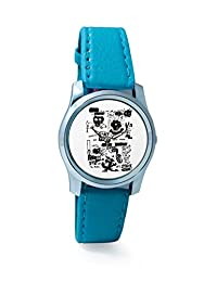 BigOwl Is It A Car Or A Cat Painting Women's Analog Wrist Watch 2114884536-RS2-S-TEA