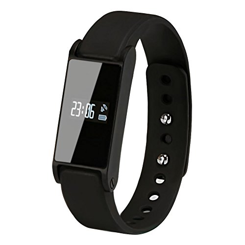 Soyan Bluetooth Smart Watch Bracelet Polymer I6 Black with Pedometer and Sleeping tracking