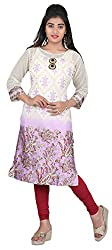 Namah Printed Women's Kurti (Purple, XX-Large)