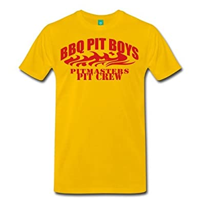 Spreadshirt Men's BBQ Pit Boys Pitmasters T-Shirt, sun yellow, 4X