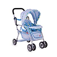 Toy Doll Caboose Tandem Stroller - Blue Dot by JOOVY