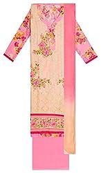 Sree Hamsa Women's Cotton Unstitched Dress Material (Beige)